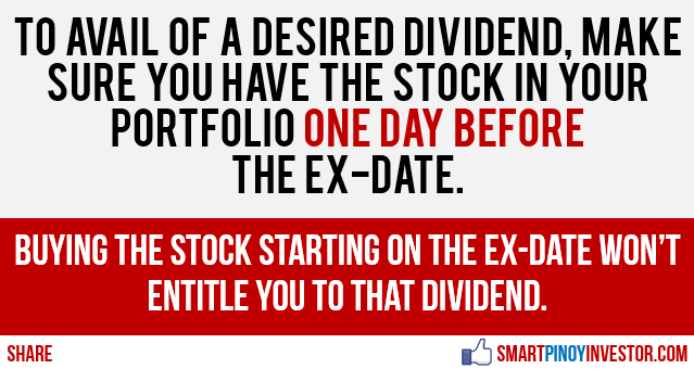How to get dividends in Philippine Stock Market